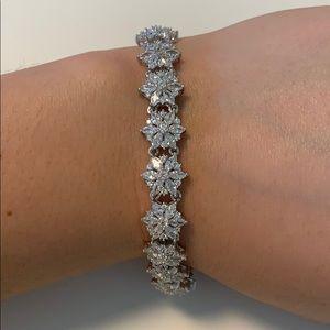 NWOT White CZ flower bracelet
